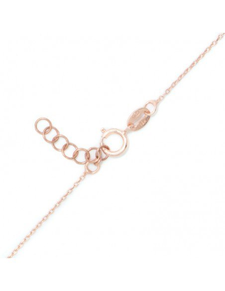 Ασημένιο Κολιέ ματάκι ρόζ χρυσό REVIL 4
