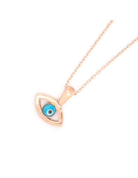 Silver Necklace Evil Eye rose gold REVIL