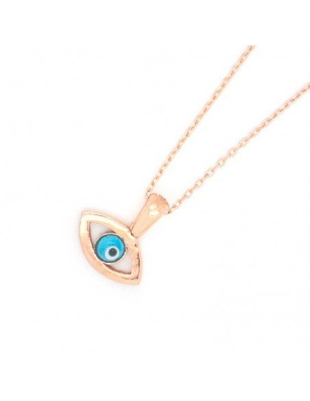 Silver Necklace Evil Eye rose gold REVIL