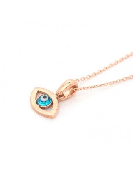Silver Necklace Evil Eye rose gold REVIL 3