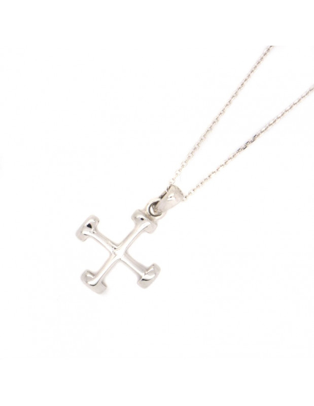Silver Cross Necklace NEKTO
