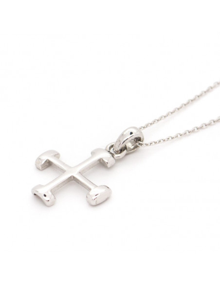 Silver Cross Necklace NEKTO 2