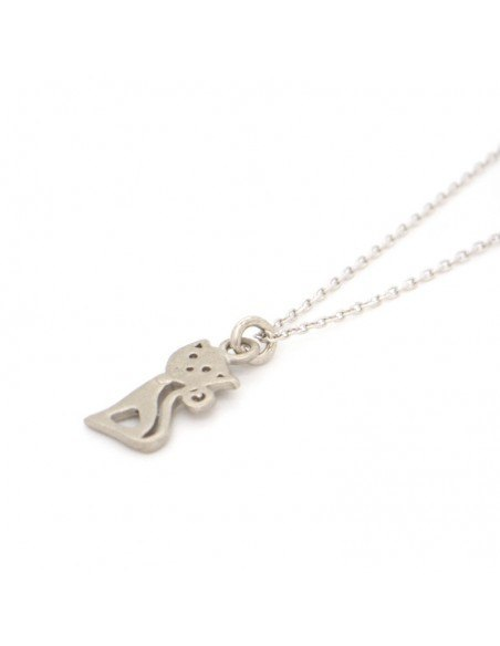 Silver Necklace with cat GATOULA 2