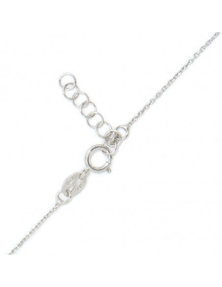 Silver Necklace with pearl flower INKA 3