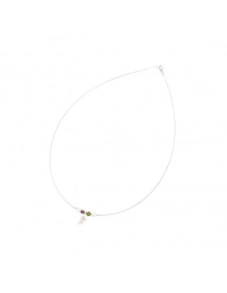 Silver Necklace with crystals ELIA 2
