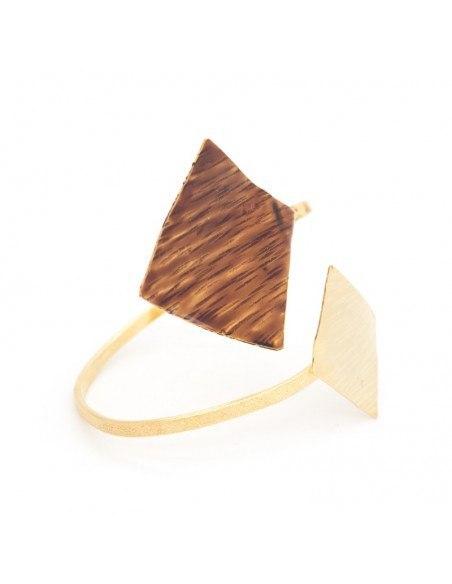 Armband Bronze vergoldet mit Emaille RINIA