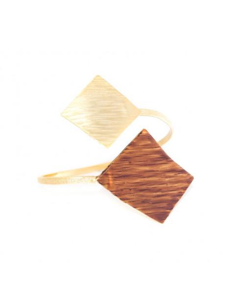 Bracelet bronze gold plated with enamel RINIA