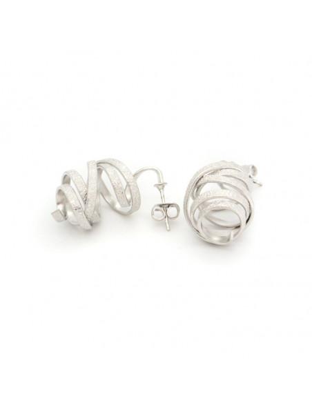 Ohrringe handgefertigt silber FLEVO 4