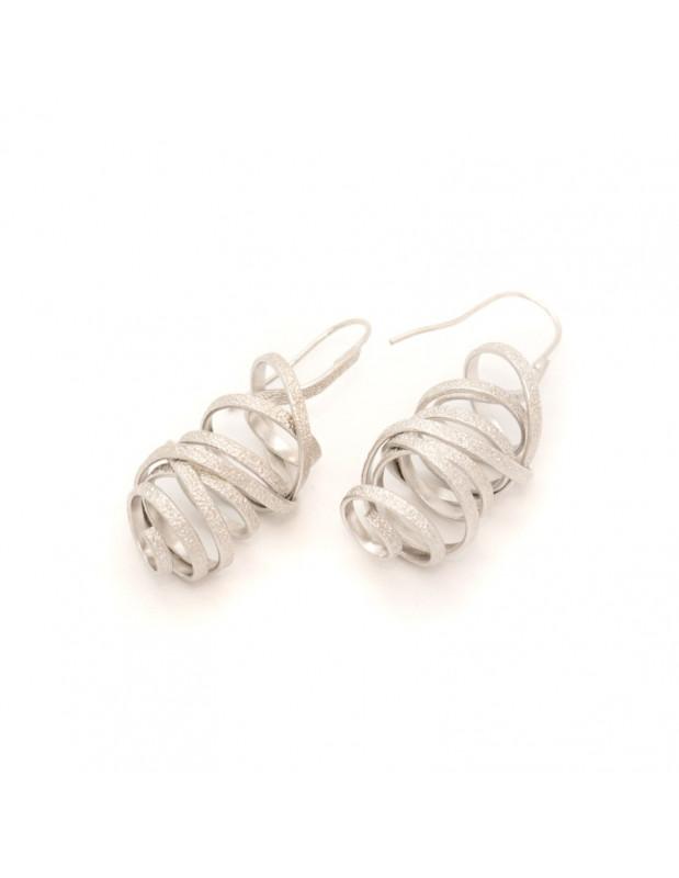 Earrings of bronze silver AURORA