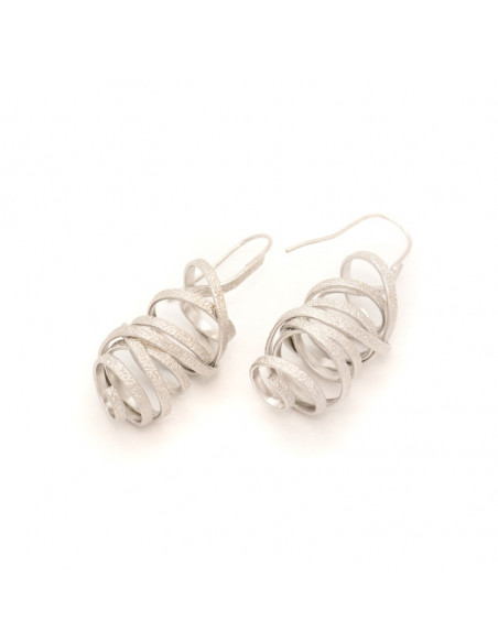 Σκουλαρίκια από μπρούτζο ασημί AURORA