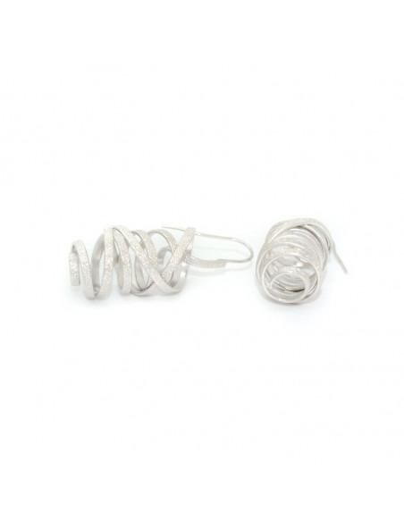 Σκουλαρίκια από μπρούτζο ασημί AURORA 3