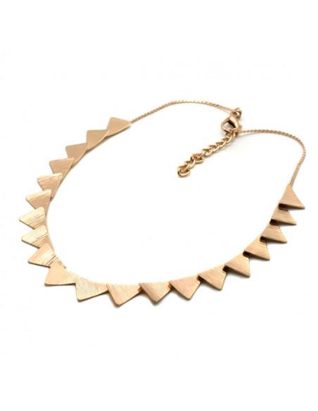 Designer Necklace of bronze greek handmade rose gold DORTES