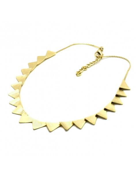 Designer Necklace of bronze greek handmade gold DORTES