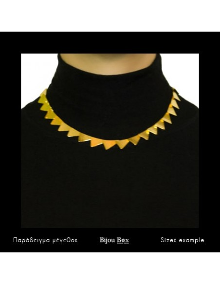 Designer Necklace of bronze greek handmade gold DORTES 2