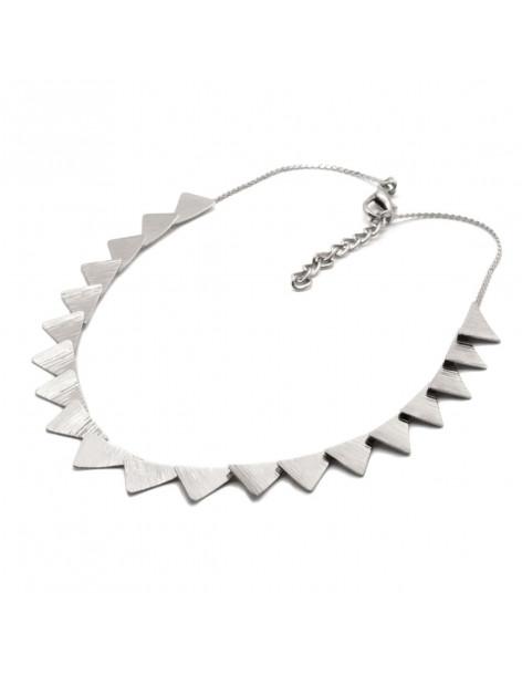 Designer Necklace of bronze greek handmade silver DORTES
