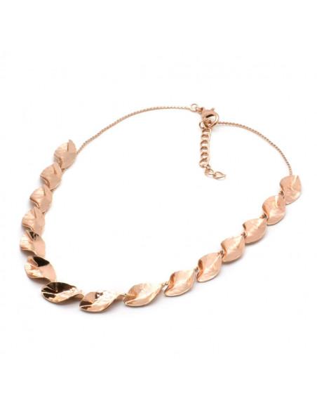 Designer Necklace of bronze greek handmade rose gold DATORI