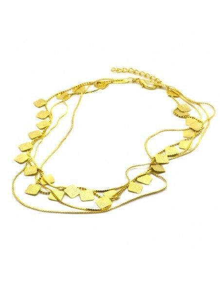 Designer Necklace of bronze greek handmade gold AOLA
