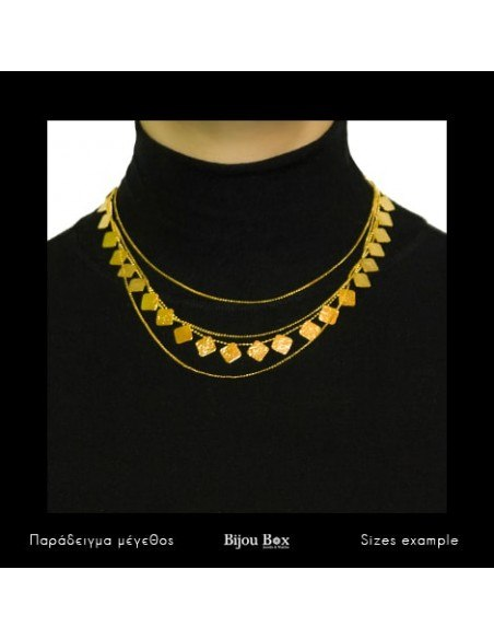 Designer Necklace of bronze greek handmade gold AOLA 2