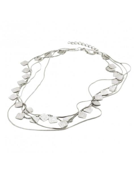 Designer Necklace of bronze greek handmade silver AOLA
