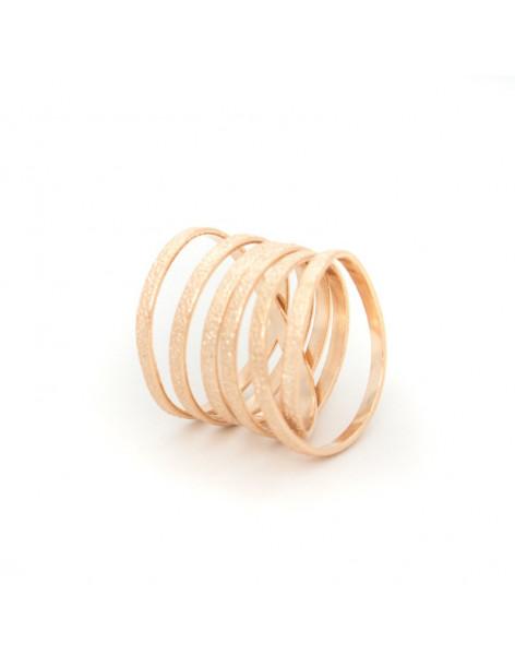 Δαχτυλίδι μπρούτζο ρόζ επίχρυσο VARKOULES
