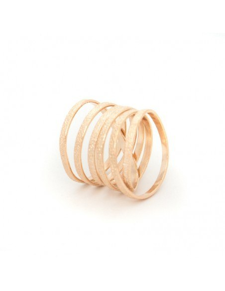 Ring of rose gold plated bronze VARKOULES