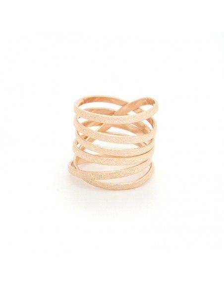Ring aus rosé gold vergoldeter Bronze VARKOULES 3