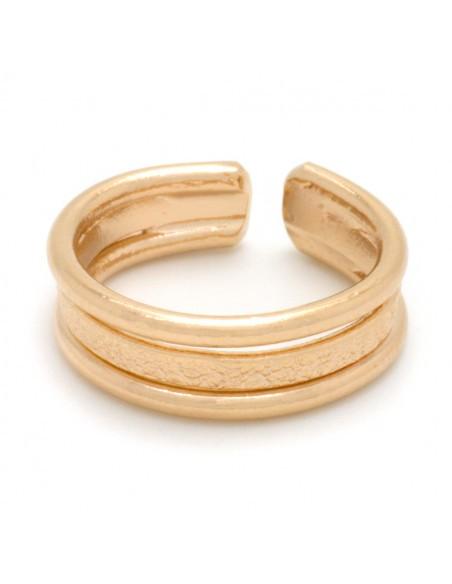 Δαχτυλίδι σεβαλιέ για το μικρό δάχτυλο από μπρούτζο ροζ χρυσό TILLI