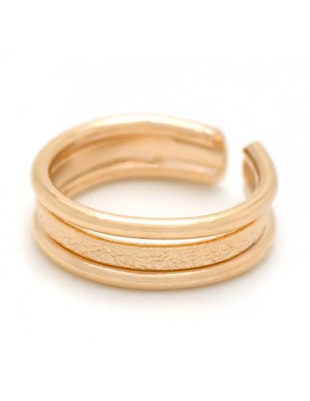 Δαχτυλίδι σεβαλιέ για το μικρό δάχτυλο από μπρούτζο ροζ χρυσό TILLI 2