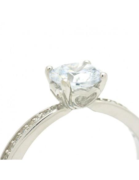 Ασημένιο Μονόπετρο δαχτυλίδι με ζιργκόν ασήμι 925 TEMPARE 2