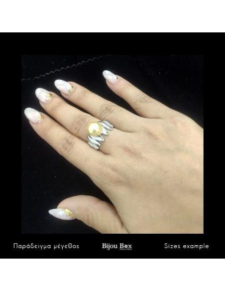 Δαχτυλίδι με μαργαριτάρια και ζιργκόν χειροποίητα ασημί YANNA 2