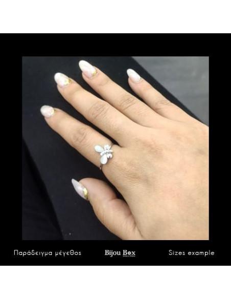 Δαχτυλίδι λευκόχρυσο επίχρυσο EGLI Bijou Box - 2
