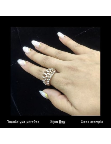 Ring rose gold plated ALEXIA 2