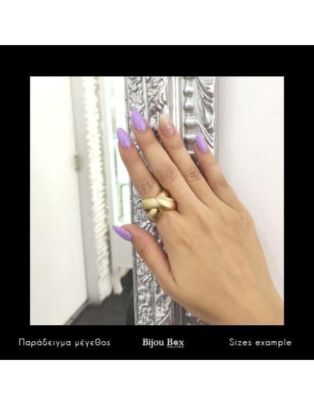 Ring mit Zirkonia Steinen gold KABIRE 2