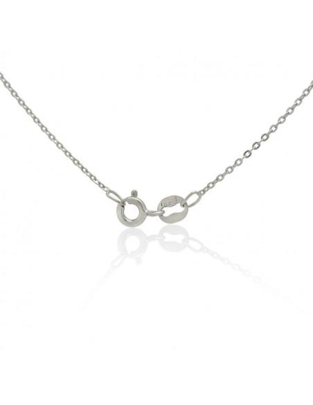 Sterling Silver Necklace with cubic zirconia shamrock handmade TILLAN 3