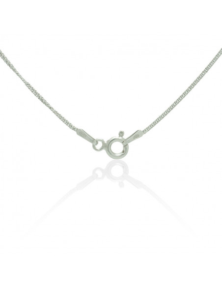 Sterling Silver Heart Necklace with cubic zirconia handmade TISARA 3