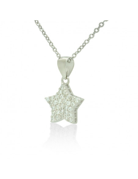 Sterling Silver Star Necklace with cubic zirconia handmade TAMIRA 2