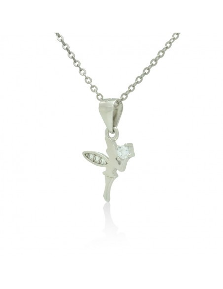 Sterling Silver Necklace with cubic zirconia fairy handmade DANIAR 2