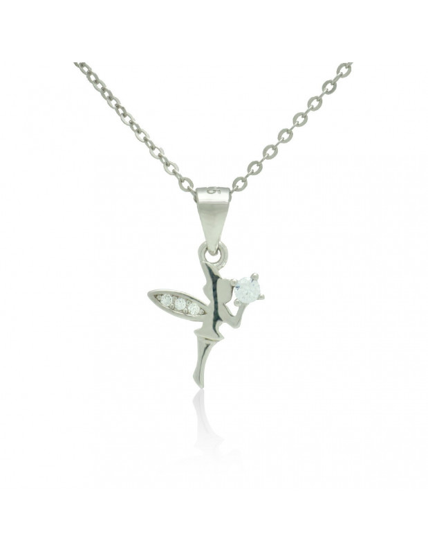 Sterling Silver Necklace with cubic zirconia fairy handmade DANIAR
