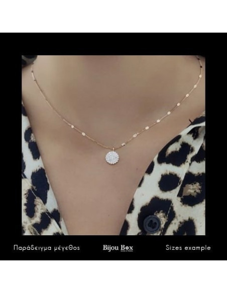 Sterling Silver Necklace with pendant cubic zirconia handmade rose gold ROSSI 2