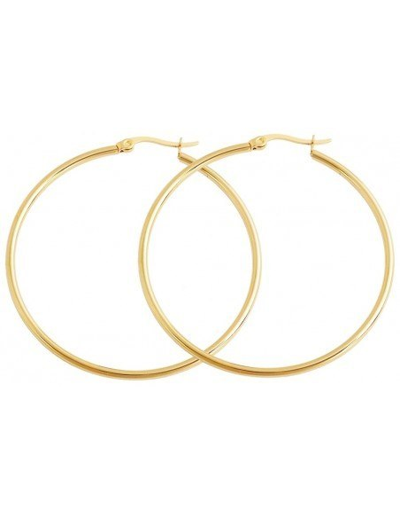 Hoop earrings gold plated 49 ROUND
