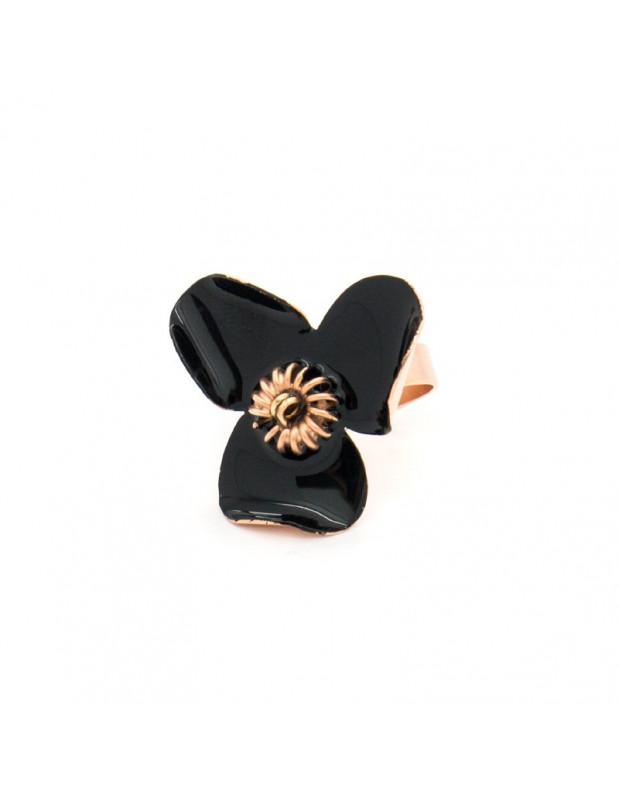 Ring of bronze handmade black rose gold GENIUS