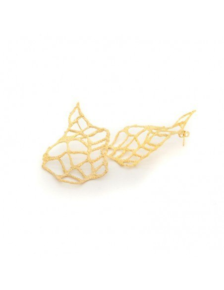 Earrings bronze gold plated VERDANDI