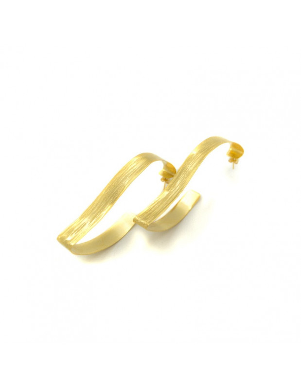 Earrings made of gold plated bronze CONCUS