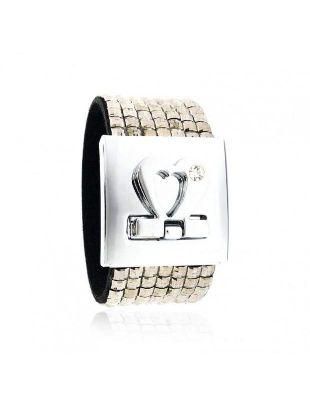 Zirkonia Armband breit silber BEL