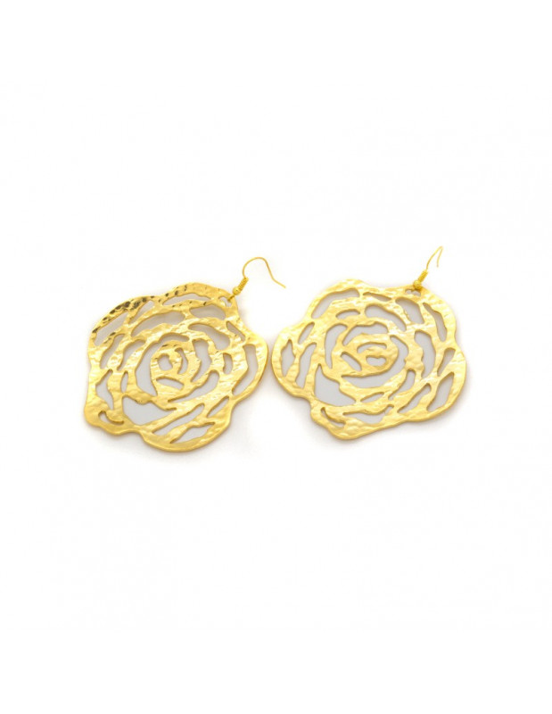 Earrings made of gold plated bronze CADERA
