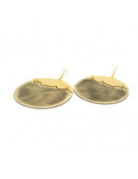 Big Earrings made of bronze gold NOX 3