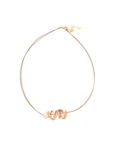 Bronze Halskette rosegold STIFT 3