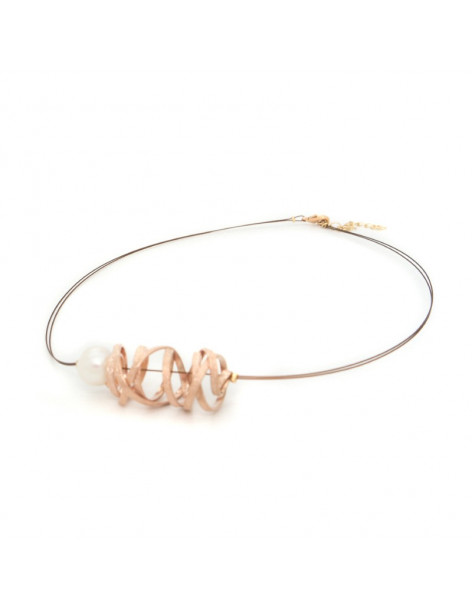 Bronze Necklace rose gold STIFT