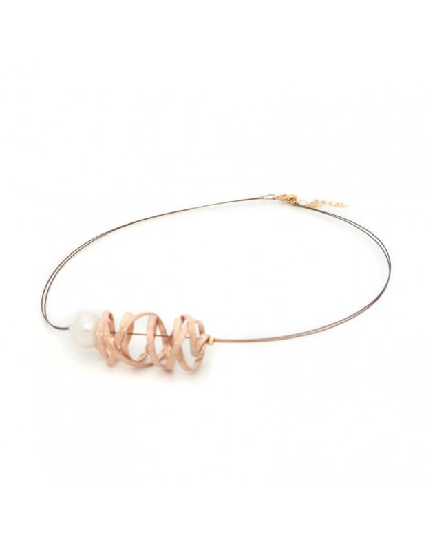 Bronze Halskette rosegold STIFT