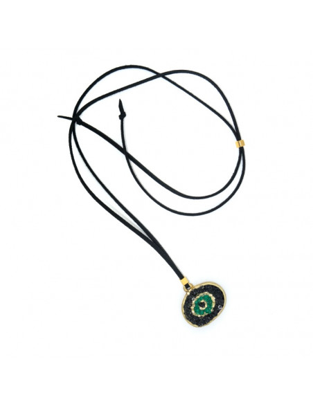 Handmade Necklace with Evil Eye BLACK MATI 3